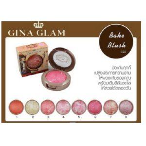 บลัชออนปัดแก้มแบบมีประกาย GINA GLAM BAKE BLUSH