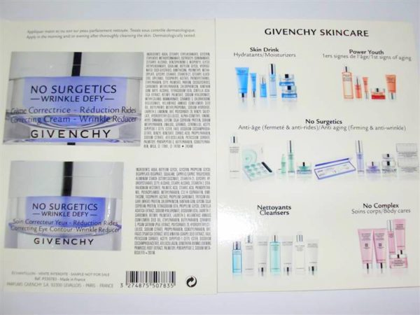 อายครีมจิวองชี่ GIVENCHY NO SURGETICS WRINKLE DEFY FACIAL & EYE CONTOUR CREAM