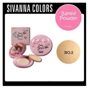 แป้งอัดแข็ง SIVANNA DEAR GIRLS COLORS BAKED POWDER