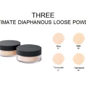 แป้งฝุ่นรุ่นโกลว์ THREE ULTIMATE DIAPHANOUS LOOSE POWDER