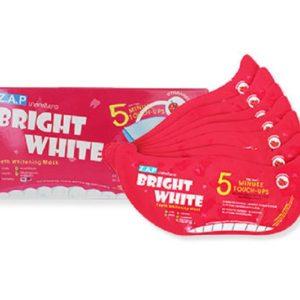 แผ่นมาส์กฟันขาว Z.A.P BRIGHT WHITE TEETH WHITENING MASK